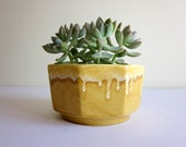 Yellow Planter, Vintage USA Made Pottery