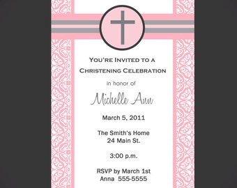 Boy/Girl Baptism Invitation Printable
