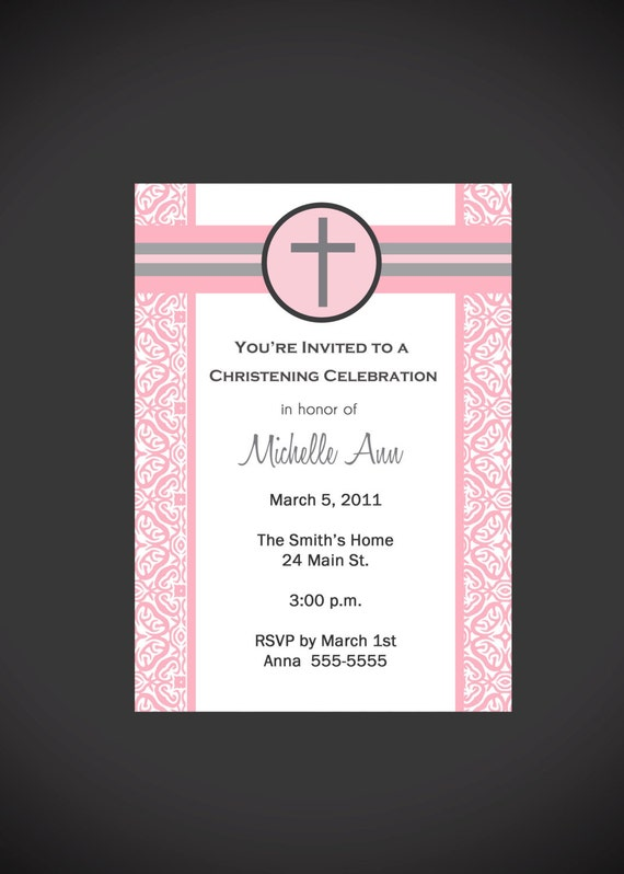 Boy/Girl Baptism Invitation Printable