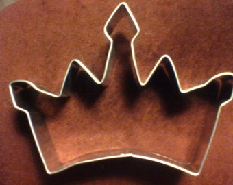 Princess Crown Cookie Cutter 4.5""