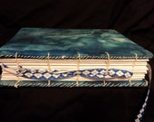 Hand Made Blank Coptic Stitch Journal-100 pages-Blue Tie-Dye