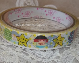 Deco Tape Kawaii Star and Circle Sentiments 15m