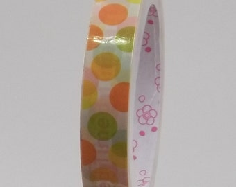Deco Tape Kawaii Happy Dots 15m
