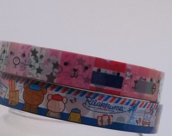 Deco Tape Kawaii Rilakkuma Pink and Stripes