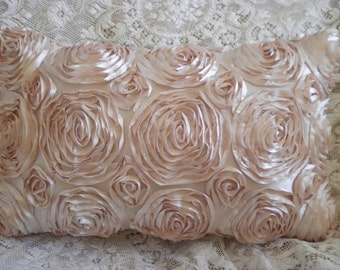 SATIN ROSE pillow so ELEGANT all over roses