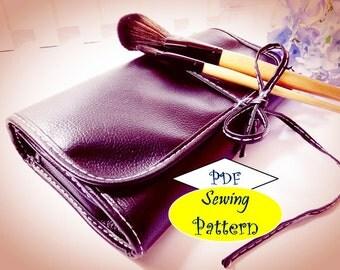 Girl Makeup Brushes holder Bag Organizer pdf sewing pattern patterns instant download tutorials pdf girls tutorial ebook e-pattern printable