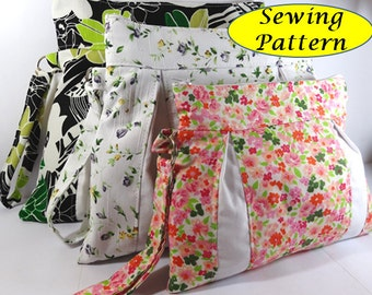 Wristlet Bag Tutorial ( sewing pattern PDF Ebook ) No.3