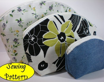 Cosmetic Toiletry Pouch Box Bag Tutorial ( sewing pattern PDF Ebook ) No.1