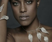 Sterling Silver Crochet Cala Flower necklace