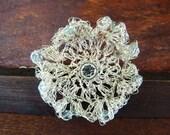 Sterling Silver Single Crochet Wild Flower Bracelet