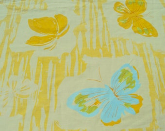 Cute Yellow Butterfly Twin Fitted Sheet