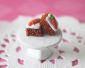 Carrot Cake Stud Earrings hypoallergenic (Surgical Steel)