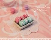 Dollhouse miniature desserts - Shabby Chic Macaron (1/12 scale)