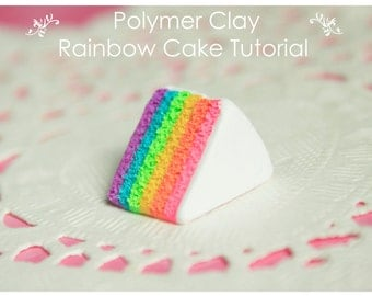 Miniature Polymer Clay Rainbow Cake Tutorial