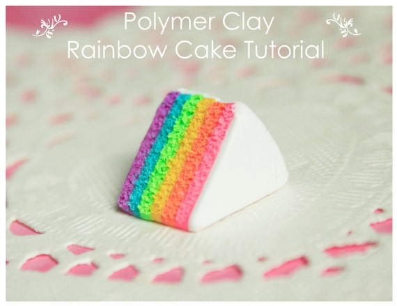 Miniature Polymer Clay Rainbow Cake Tutorial