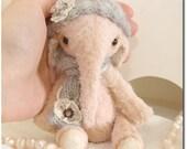 "Elephant  ""Baby"" OOAK 6.6 inches"
