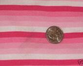 "1/4"" Pink Rainbow Stripe Knit Knit Fabric"