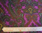 Gorgeous Paisley on magenta Poly Lycra Fabric
