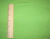 "Gorgeous Bright Apple Green & Yellow 1/8"" STripe Knit Fabric"