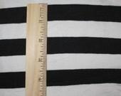 "Apx 7/8"" Black and White Cotton Lycra STripe Knit Fabric"