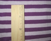 "Gorgeous Tone on Tone Purple/Light PUrple apx. 3/8"" Cotton LYcra Stripe Knit"