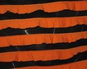 Orange &  Black Halloween Two Tone  Ruffle Ruffled Knit FAbric