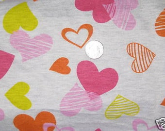 Sunshine Hearts Jersey knit fabric