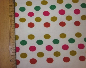 Eclectic Candy Dots Cotton Lycra knit fabric