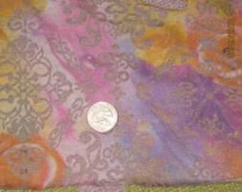 Gorgeous Tie Dye Celtic Ornamental/Birds Burnout Jersey  knit fabric