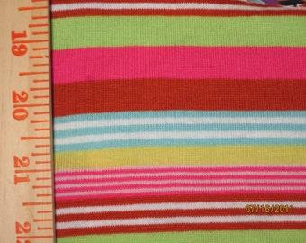 Gorgeous Rainbow Pop Stripes Knit Fabric