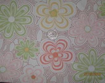 Kaufman Cotton Woven Layered Flowers