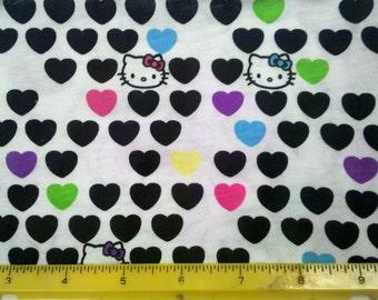 Cute Kitty Hearts Cotton Knit Fabric