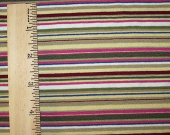 My Retro Rug Stripe Knit FAbric