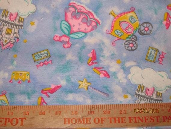 Cinderella Princess Interlock Knit Fabric