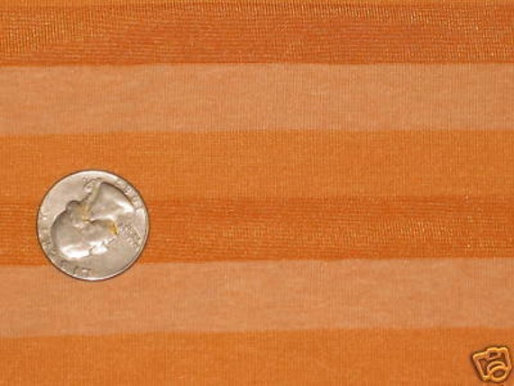 Tri Shade Cantaloupe Orange STripe Knit fabric