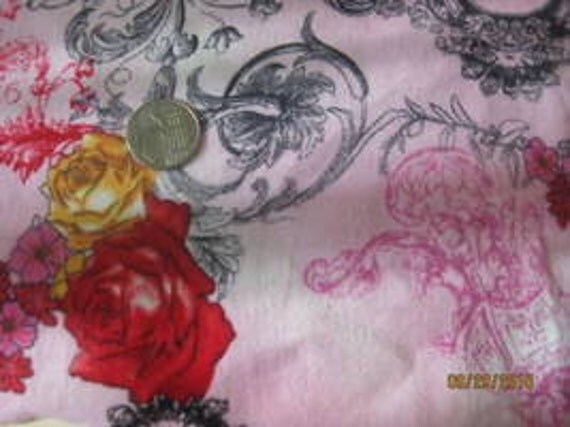 Baby Nay Rose Toile Baby Rib Knit FAbric