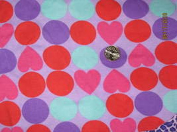 Pretty mod dots in vibrant shades of purple, red, and seafoam green  Knit Fabric