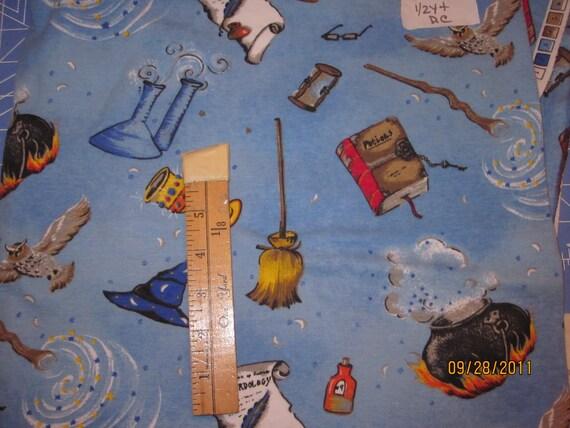 Htf Harry Potter Wizards Warlocks Wizardology Knit Fabric 1 2y