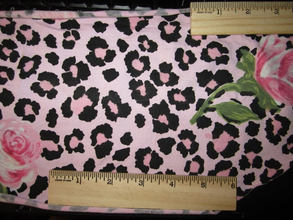 Gorgeous Pink Rose Cheetah Cotton Lycra Knit FAbric