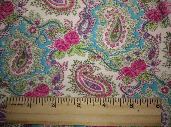 Gorgeous Euro Asian Paisley Baby Rib Knit FAbric