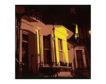 Bay Window -Limited Edition Giclée Print from Original Stencil Art