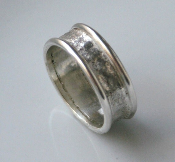 items similar to reticulated silver ring or wedding band