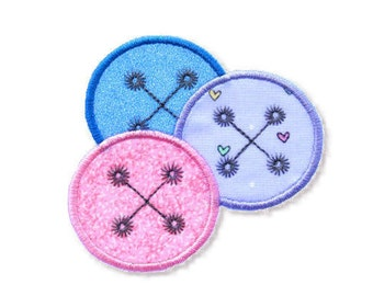 Buttons Applique, 3 Sizes - Machine Embroidery
