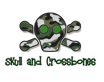 Skull and Crossbones Applique, 3 Sizes - Machine Embroidery