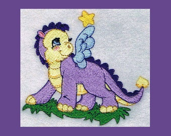 Baby Dragon 4, 2 Sizes - Machine Embroidery