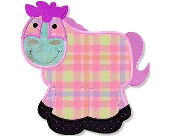 Western Horse Applique 3 Sizes - Machine Embroidery