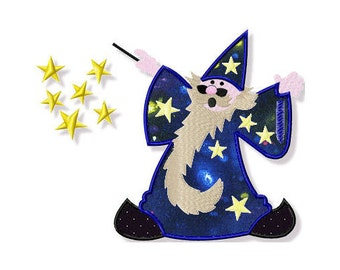 Wizard Applique, 3 Sizes - Machine Embroidery