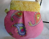 Pink Paisley Key Keeper Coin Purse