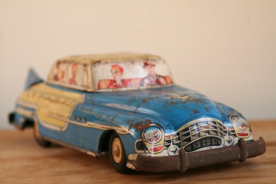 Vintage French 1950s Joustra Saloon Car - Made in France