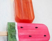 SECONDS: Seedless Popsicle soap  - Watermelon